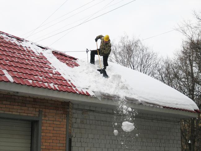 Приспособление для очистки крыши от снега своими